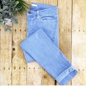 Joes Jeans Pale Blue Wash Straight Ankle Jeans 28